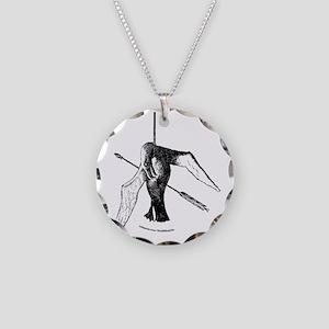 albatross with arrow (lite)  Necklace Circle Charm