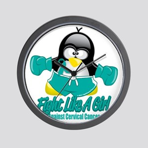 Cervical-Cancer-Fighting-Penguin Wall Clock