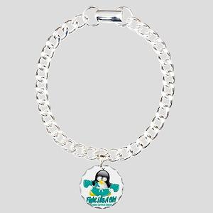Cervical-Cancer-Fighting Charm Bracelet, One Charm