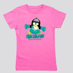 Cervical-Cancer-Fighting-Penguin Girl's Tee