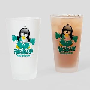 Cervical-Cancer-Fighting-Penguin Drinking Glass