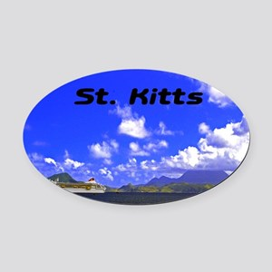 St. Kitts42x28 Oval Car Magnet