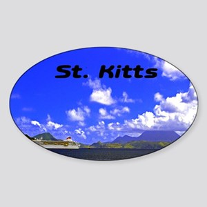 St. Kitts42x28 Sticker (Oval)