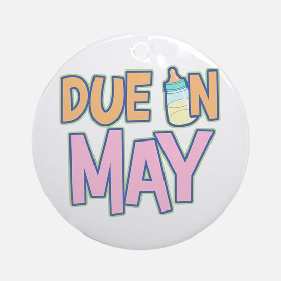 Due In May Girl  Ornament (Round)