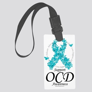 OCD-Ribbon-Of-Butterflies Large Luggage Tag