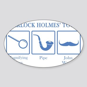 sherlockstools3 Sticker (Oval)