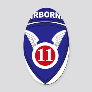11th Airborne Division Oval Car Magnet