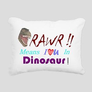 dinosaur-2 Rectangular Canvas Pillow