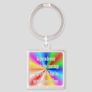 Serenity Prayer Square Keychain