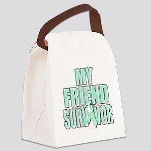 My Friend is a Survivor (teal) Canvas Lunch Bag