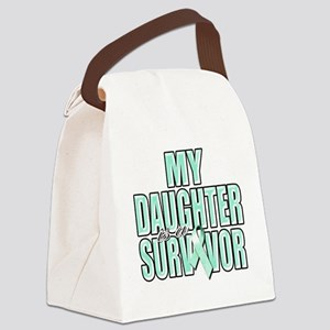 My Daughter is a Survivor (teal) Canvas Lunch Bag