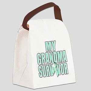 My Grandma is a Survivor (teal) Canvas Lunch Bag