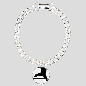 hurdler Charm Bracelet, One Charm