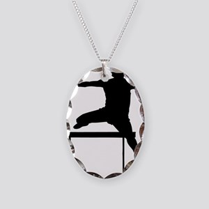 hurdler Necklace Oval Charm