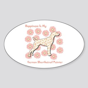 Pointer Happiness Oval Sticker