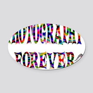 PHOTO Oval Car Magnet