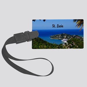 St Lucia 20x16 Large Luggage Tag