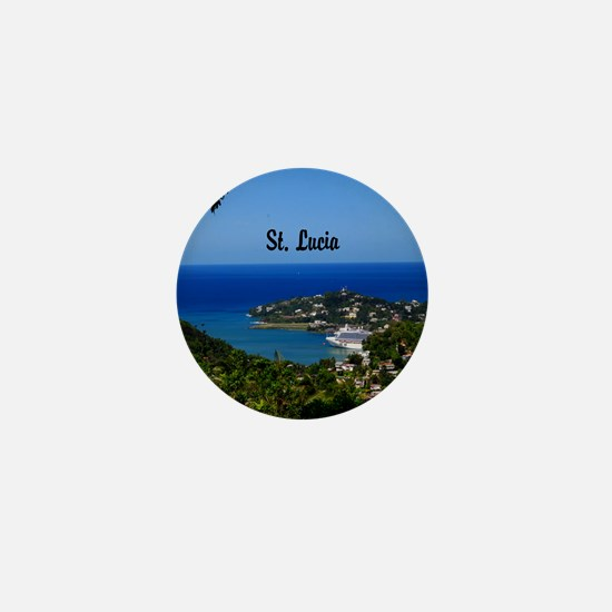 St Lucia 20x16 Mini Button