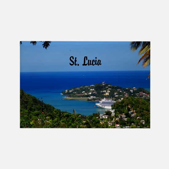 St Lucia 20x16 Rectangle Magnet