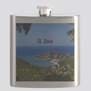 St Lucia 20x16 Flask