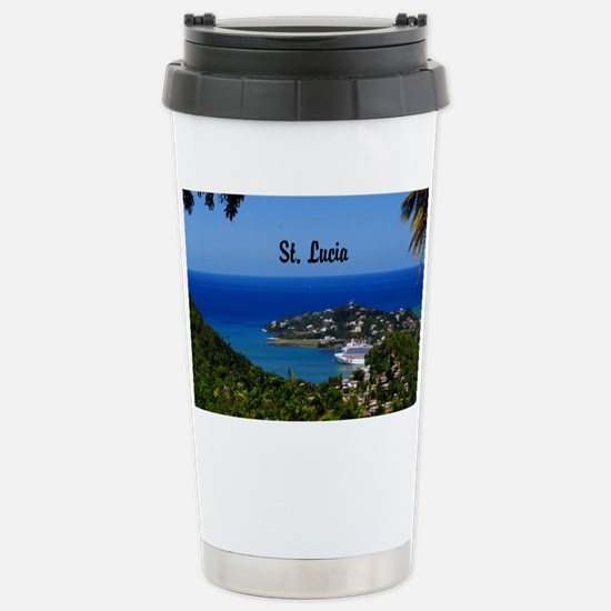 St Lucia 20x16 Stainless Steel Travel Mug