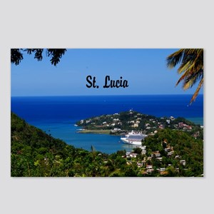 St Lucia 20x16 Postcards (Package of 8)