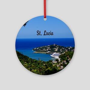 St Lucia 20x16 Round Ornament