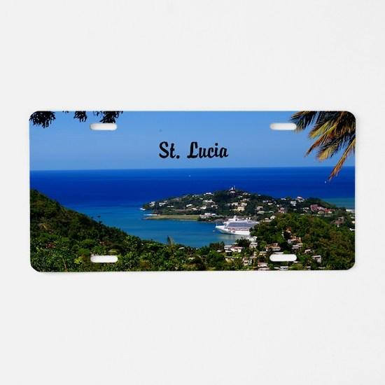 St Lucia 35x23 Aluminum License Plate