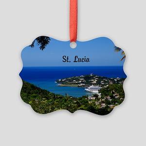 St Lucia 35x23 Picture Ornament