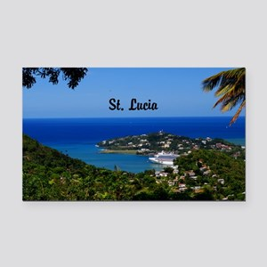 St Lucia 35x23 Rectangle Car Magnet