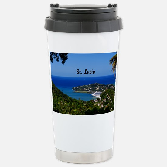 St Lucia 35x23 Stainless Steel Travel Mug