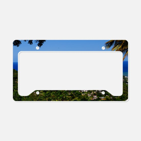 St Lucia 18x12 License Plate Holder