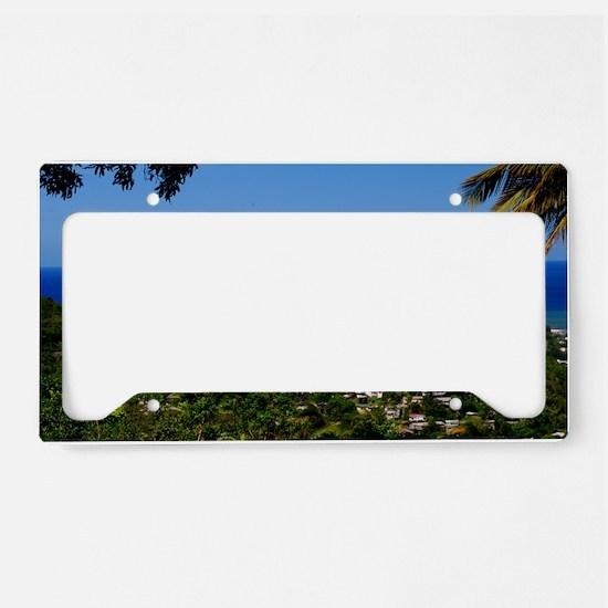 St Lucia 42x28 License Plate Holder