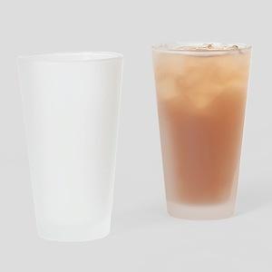 helvetica_10white Drinking Glass