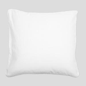 helvetica_10white Square Canvas Pillow