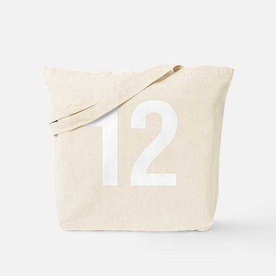 helvetica_12white Tote Bag