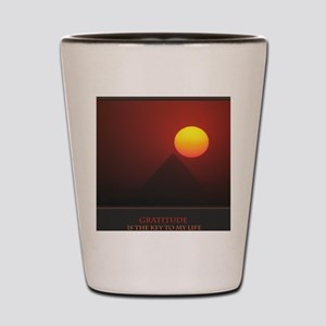 Gratitude Is The Key To My Life print Shot Glass