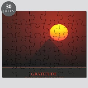 Gratitude Is The Key To My Life print Puzzle