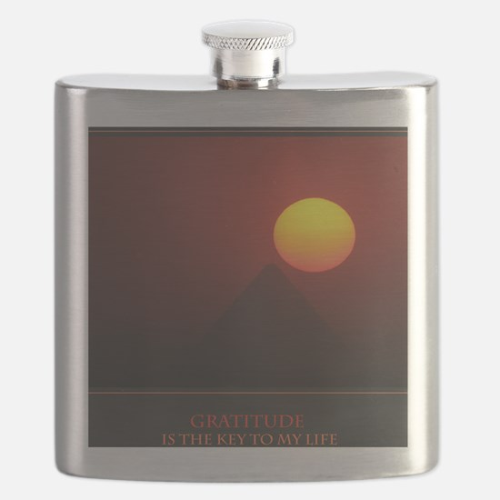 Gratitude Is The Key To My Life print Flask