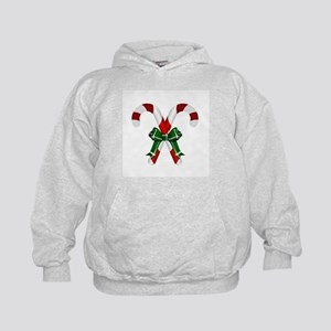 Christmas Candy Cane With Bows Hoodie
