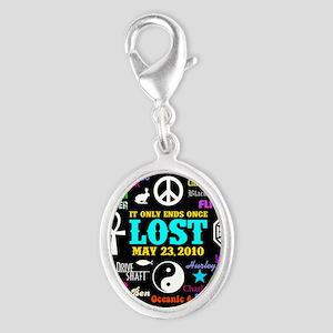 443 Lostmem Silver Oval Charm