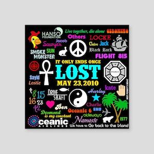 "443 Lostmem Square Sticker 3"" x 3"""