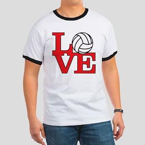 LoveVB-red Ringer T