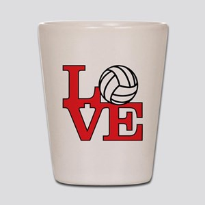 LoveVB-red Shot Glass