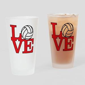 LoveVB-red Drinking Glass