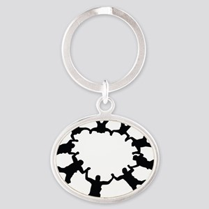 skydive1a Oval Keychain