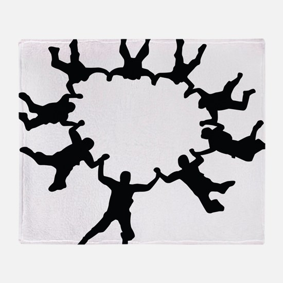 skydive1a Throw Blanket