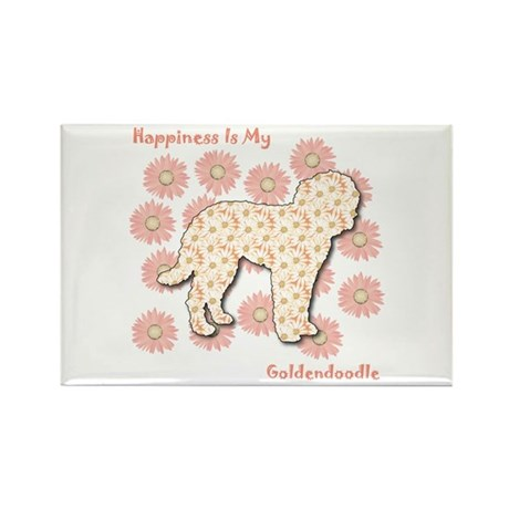 Goldendoodle Happiness Rectangle Magnet (10 pack)