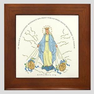Mary Miraculous Medal Framed Tile