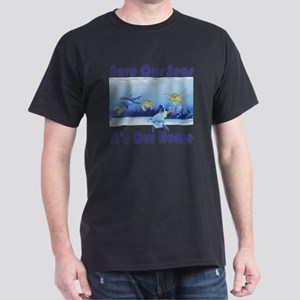 Turtles  Dolphins square Dark T-Shirt